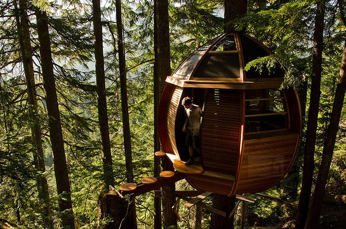 خانه درختی چوبی