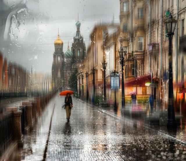 قدم زدن در باران