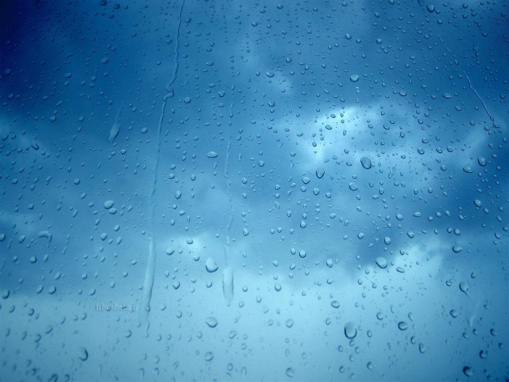 بعد از باران از پشت شیشه