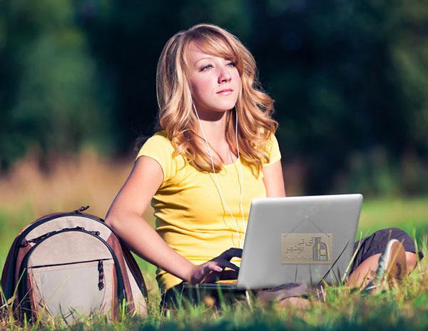 انعکاس نور خورشید لپ تاپ