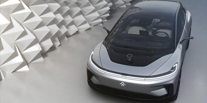 نمای جلو خودرو برقی