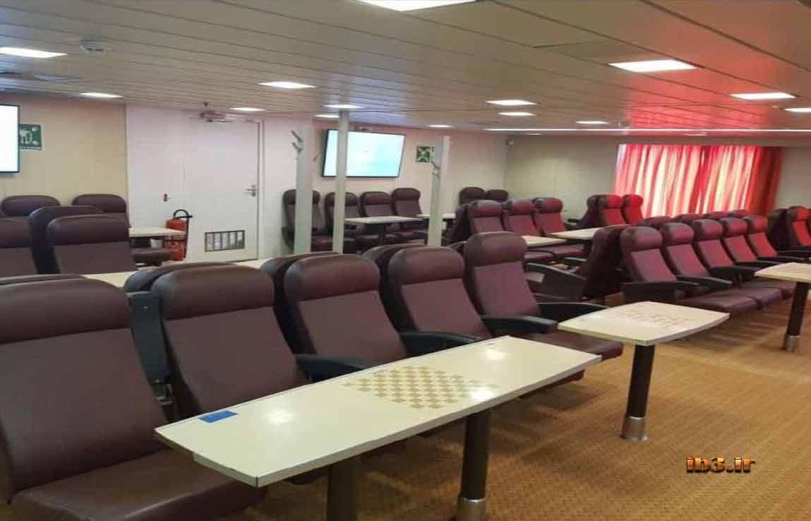 کابین مسافران کشتی گرندفری   و مقایسه با رافایل بوشهر