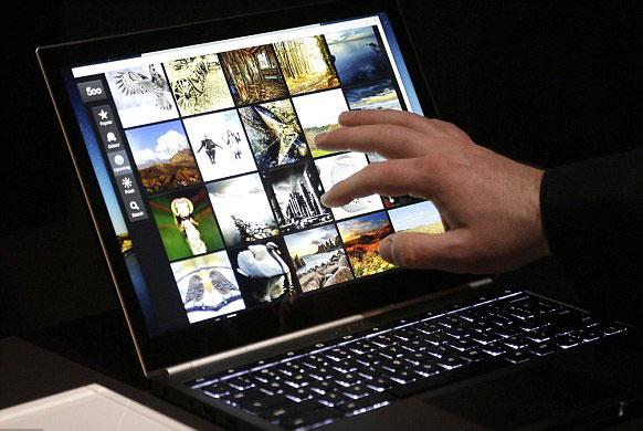 لپ تاپ چند لمسی