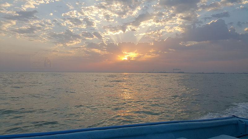 سلام خورشید به خلیج فارس
