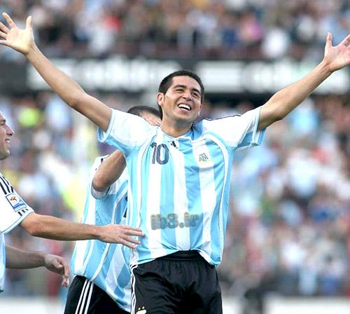 بهترین گلهای خوان رومن ریکلمه فوق ستاره آرژانتینی بوکاجونیورز ویارئال و بارسلونا